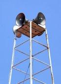 O público anunciando sistema Close na zona rural — Fotografia Stock