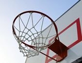 Basketball hoop with net — Stock Photo