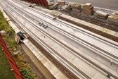 The construction site of new light rail rapid transportation system — 图库照片
