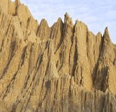 The close view of badland formations — Stock Photo