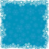 Christmas blue background with snowflakes pattern — Stock Vector