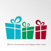 Retro christmas card with christmas presents — Stock Vector