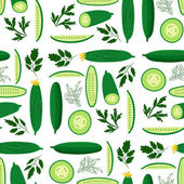 Cucumbers — Stock Vector