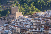 Castle and Houses in Alcala Del Jucar — Stock Photo