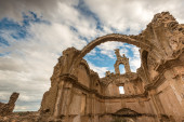 Remains of the church of San Bartolome. Moya. Cuenca, Spain — Stock Photo
