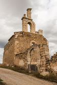 Remains of the church of San Bartolome. Moya. Cuenca. Spain — Stock Photo