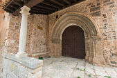 Gate Church of Santa Maria La Mayor. Moya. Cuenca. Spain — Stock Photo