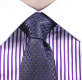 Blue tie and violet shirt — Stock Photo