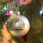 Beautiful glass balls on Christmas Tree — Stock Photo #57001425