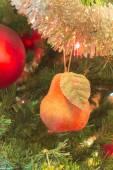 Beautiful glass balls on Christmas Tree — Stock Photo