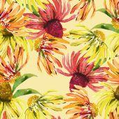 Suncap seamless pattern — Foto Stock