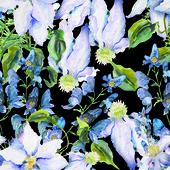 Padrão sem emenda de flores de verão — Foto Stock