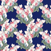 Cyclamen seamless pattern — Stock Photo