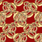 Bretzel seamless pattern — Stock Photo