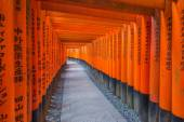 Fushimi Inari Shrine on in Kyoto, Japan. — Stock Photo