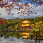 Golden Pavilion Kinkakuji Temple in Kyoto Japan — Stock Photo #58696541