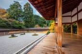 Zen Rock Garden in Ryoanji Temple — Photo