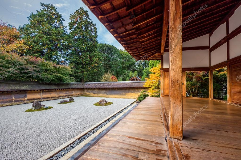 Rock no jardim Zen Ryoanji Temple — Stock Photo © platongkoh01