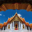 Traditional Thai architecture, Wat Benjamaborphit or Marble Temp — Stock Photo #73865903