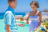 Wedding Ceremony at the Tropical Coast Line — Foto Stock