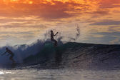 Surfer on Amazing Wave — Foto Stock