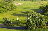 Beautiful View of Green Golf Field — Stockfoto