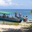 GILI ISLANDS, INDONESIA - MARCH 22: Gili islands are small tropical islands between Lombok and Bali islands. — Stock Photo #74174209