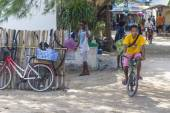 GILI ISLANDS, INDONESIA - MARCH 22: Gili islands are small tropical islands between Lombok and Bali islands. — Stock Photo