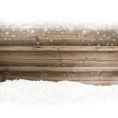 Wood with snow — Stock fotografie