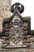 William Wallace coat of arms at The National Wallace Monument in — Stock Photo