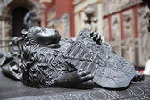 LONDON, UK - AUGUST 24, 2014: Religion sculptures and reliefs in Victoria and Albert Museum. V&A Museum is the world's largest — Stock Photo