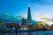 LONDON, UK - AUGUST 11, 2014: Shard of glass in night lights, — Stock Photo