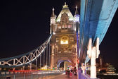 LONDON, UK - AUGUST 11, 2014: Tower bridge on the river Thames in night lights — Stock Photo