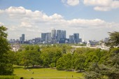 LONDON, UK - June 17, 2014: Canary wharf business and banking aria — Stock Photo