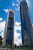 MADRID, SPAIN - MAY 28, 2014: Madrid city Business centre, modern skyscrapers — Foto de Stock