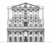 Bank of England London, Sketch collection — Stock Photo