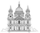 St. Pauls cathedral, London. Sketch collection — Stock Photo