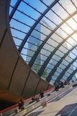 Londra, Uk - 3 luglio 2014: Stazione della metropolitana Canary Wharf filmato — Foto Stock
