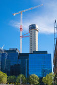 Building site with cranes on Canary Wharf aria, London. — Stock Photo