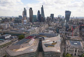 LONDON, UK - AUGUST 9, 2014 London view. City of London one of the leading centres of global finance this view includes Tower 42, Lloyds bank, Gherkin building and other — Stock Photo