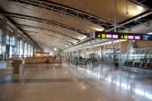 Interior of Madrid airport, departure waiting aria — Stok fotoğraf