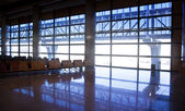 Interior of Madrid airport, departure waiting aria — Stock Photo