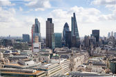 LONDON, UK - AUGUST 9, 2014 London view. City of London one of the leading centres of global finance this view includes Tower 42, Lloyeds bank, Gherkin, Walkie Talkie building and other — Stock Photo