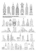 City buildings set, Sketch collection — Stock Photo