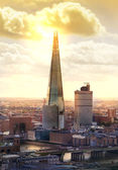 London sunset. Shard — Stock Photo