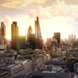 London sunset. View on business modern district — Stock Photo #61935605