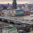London bridge and river Thames panoramic view in sun set. View from the St. Paul cathedral — Stock Photo #63782541