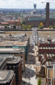 LONDON, UK - AUGUST 9, 2014. London's panorama view from St. Paul cathedral. — ストック写真