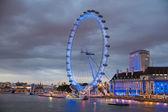 London eye in dusk — Stock Photo