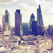 London sunset. View on business modern district — Stock Photo #66065317
